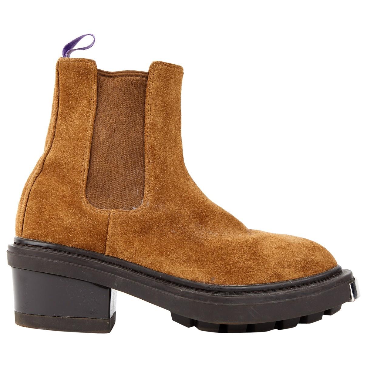 Eytys - Boots   pour femme en suede - camel
