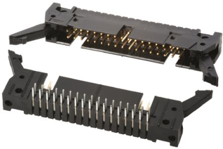 TE Connectivity , AMP-LATCH, 34 Way, 2 Row, Right Angle PCB Header