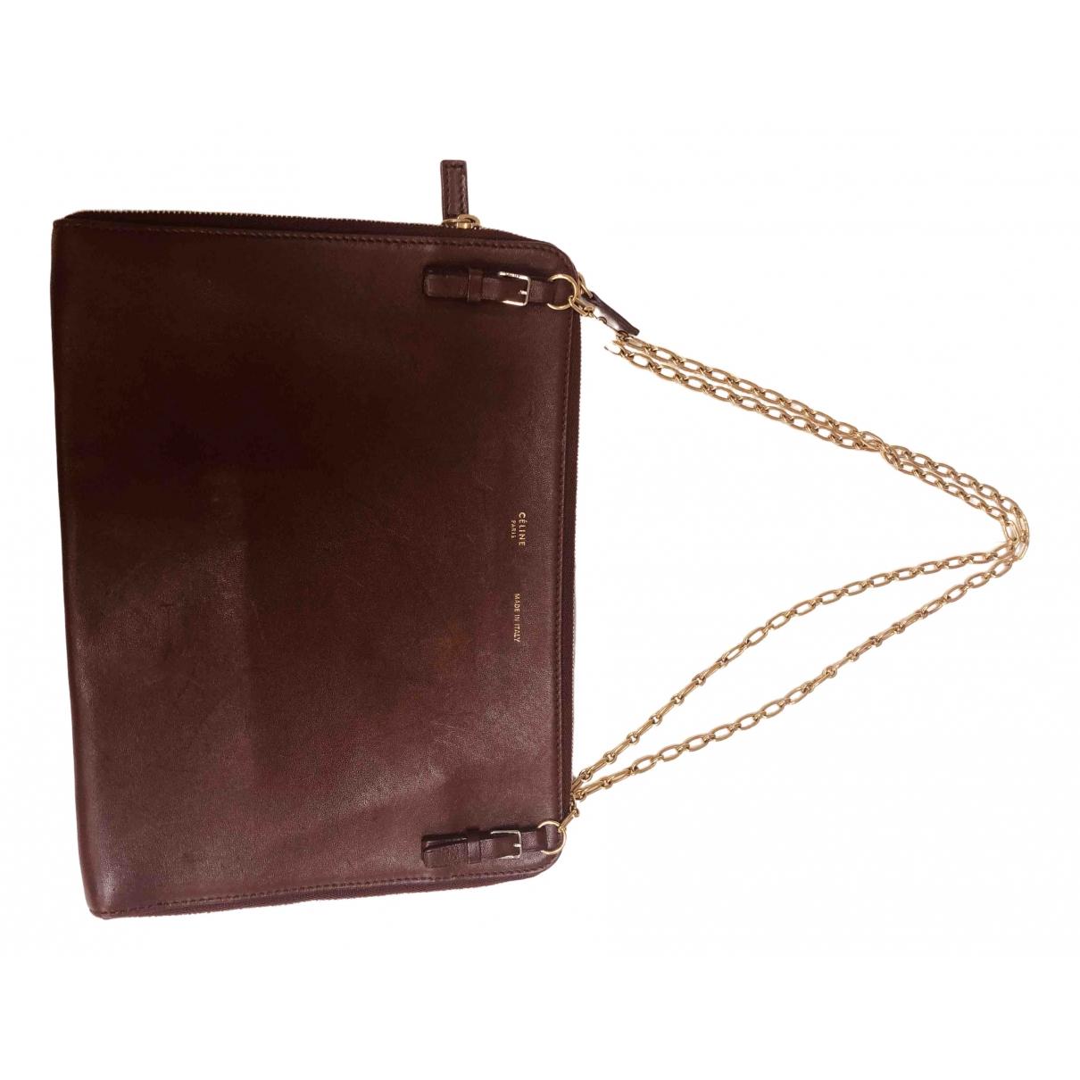 Celine All Soft Handtasche in  Bordeauxrot Leder