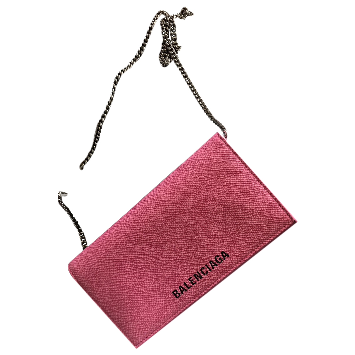 Balenciaga - Pochette Everyday pour femme en cuir - rose