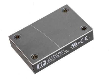 XP Power QSB75 75W Isolated DC-DC Converter PCB Mount, Voltage in 9 → 36 V dc, Voltage out 12V dc
