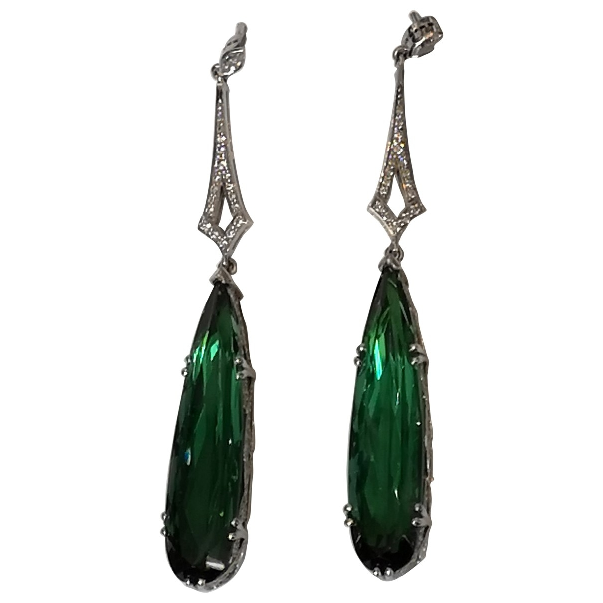 Non Signé / Unsigned \N Metallic Platinum Earrings for Women \N