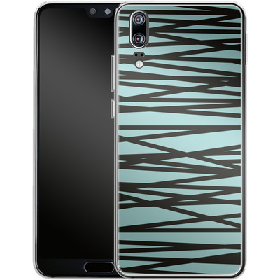 Huawei P20 Silikon Handyhuelle - Rendezvous Stripe von Khristian Howell