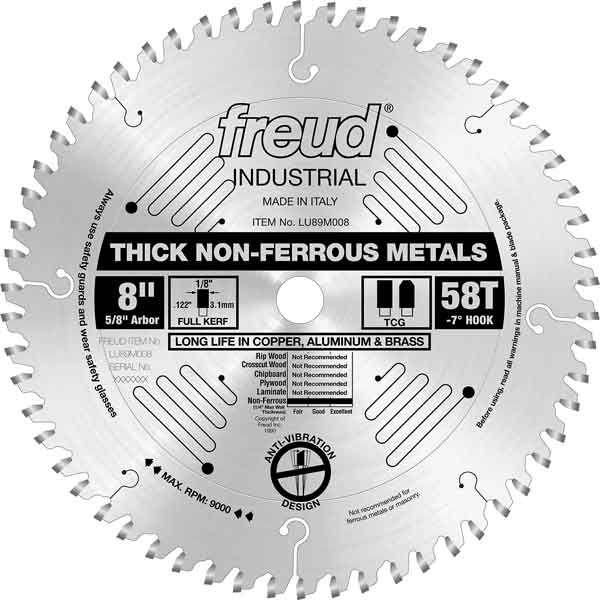 LU89M008 Industrial Thick Non-Ferrous Metal Blade, 8