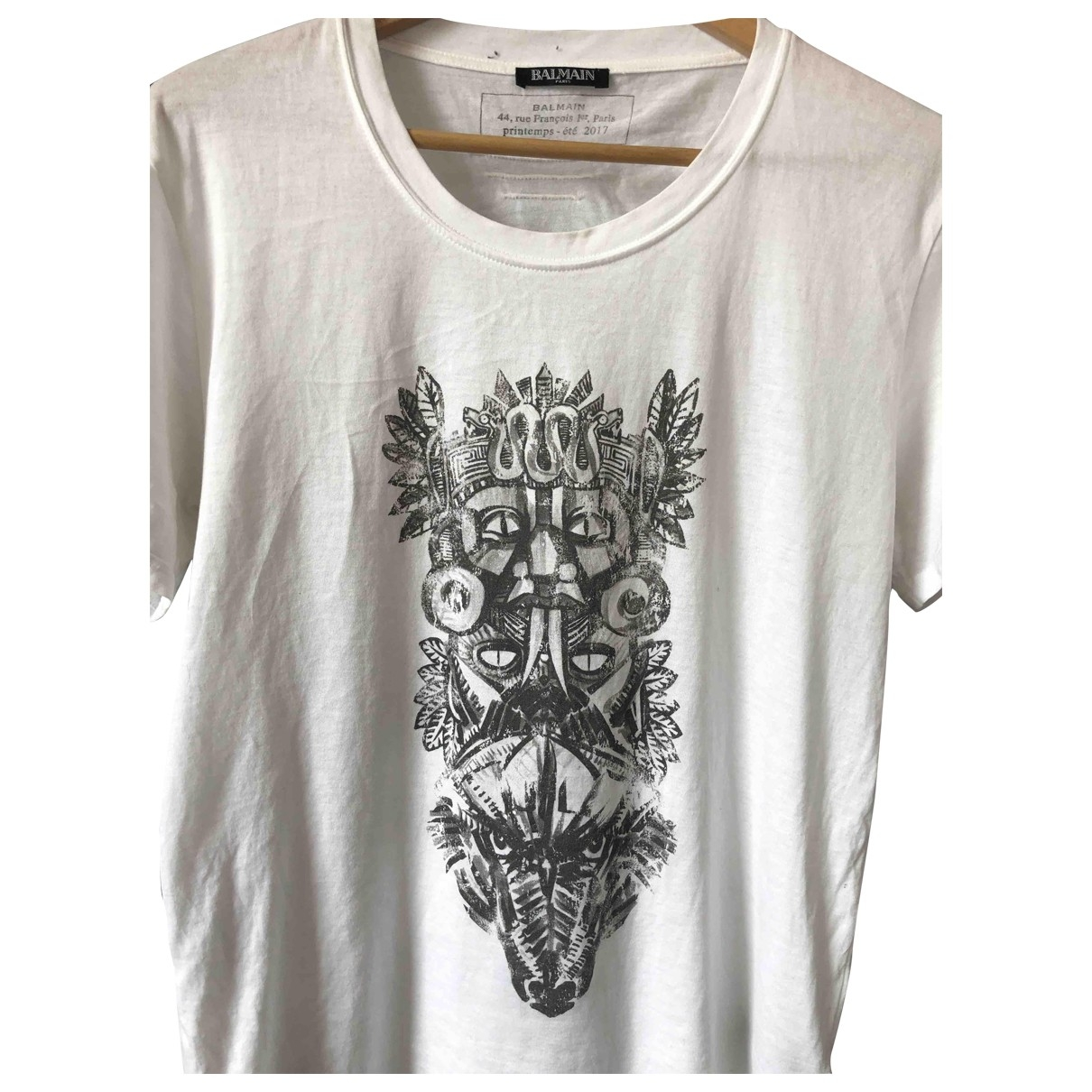 Balmain \N White Cotton T-shirts for Men S International