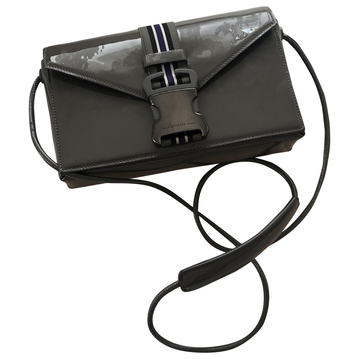 Christopher Kane \N Grey Patent leather handbag for Women \N