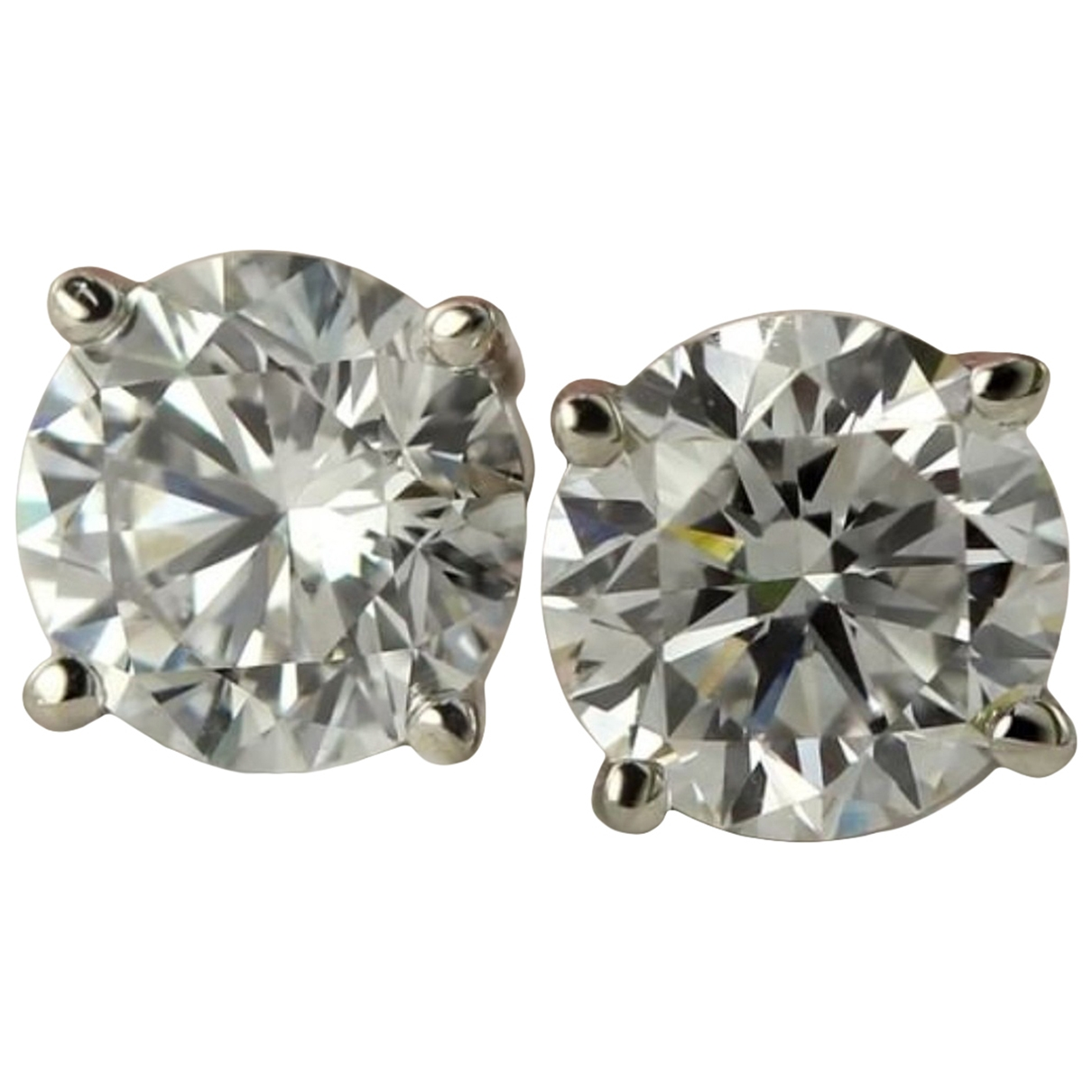 Pendientes Puces en diamants de Oro blanco Non Signe / Unsigned