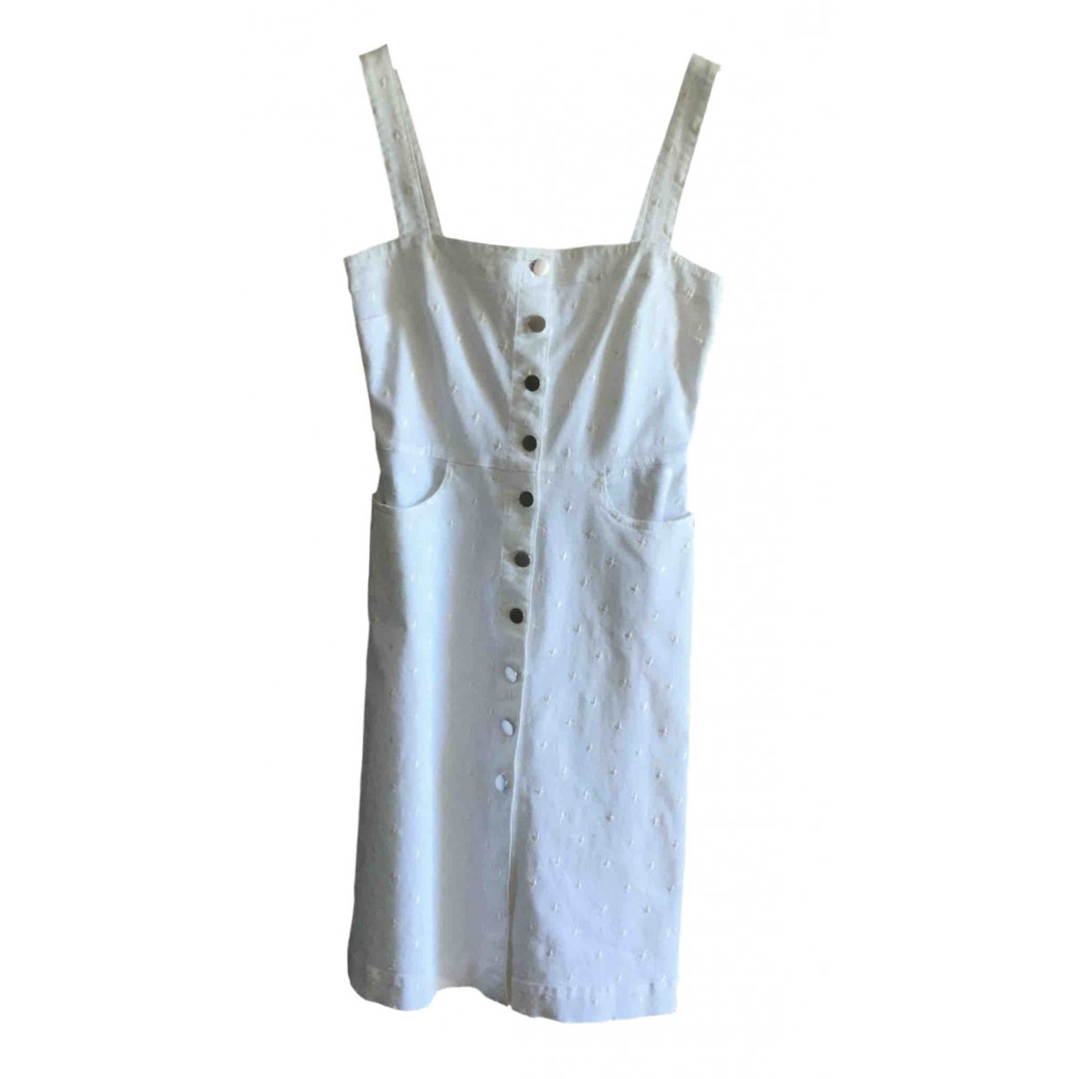 Stella Mccartney \N Kleid in  Weiss Denim - Jeans