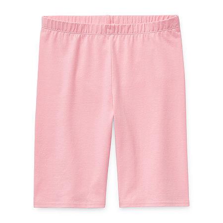 Arizona Little & Big Girls Bike Short, Medium (10-12) , Pink