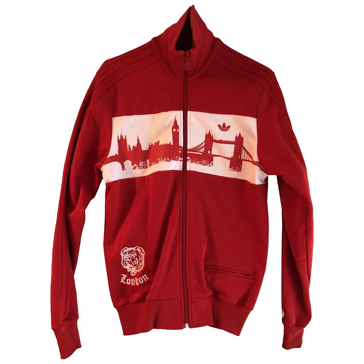 Adidas \N Jacke in  Rot Baumwolle