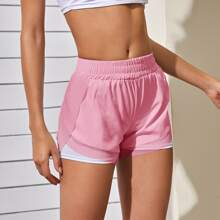 Colorblock Lined Sports Shorts