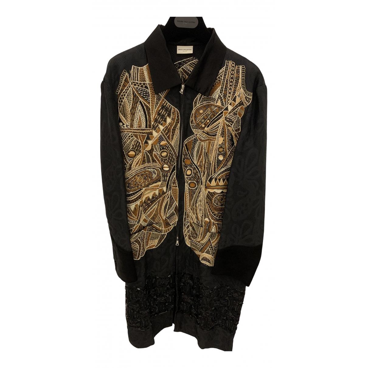 Dries Van Noten - Manteau   pour femme en lin - noir