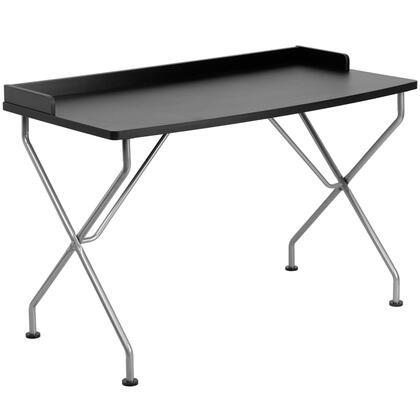 NAN-JN-2116-BK-GG Black Computer Desk with Silver