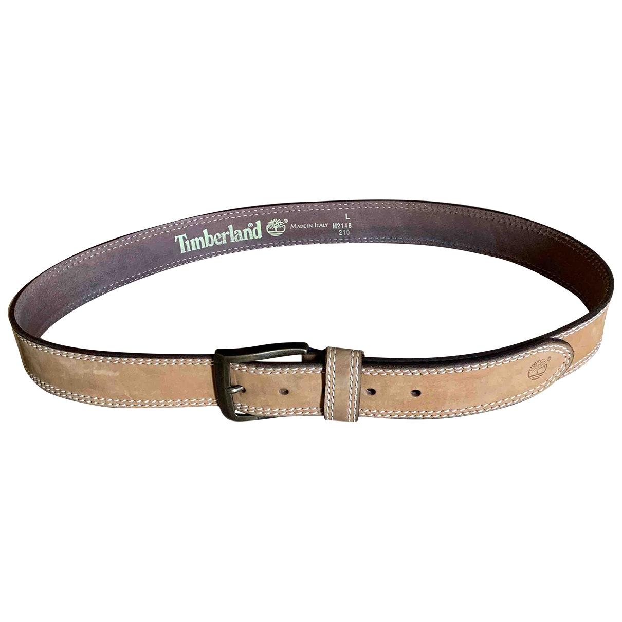 Timberland \N Ecru Leather belt for Men L international
