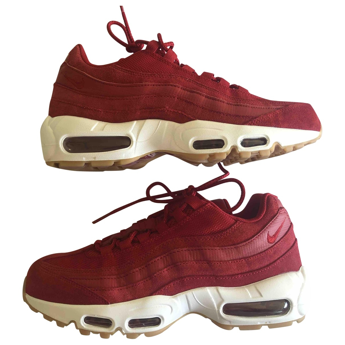 Nike Air Max 95 Red Cloth Trainers for Women 40 EU