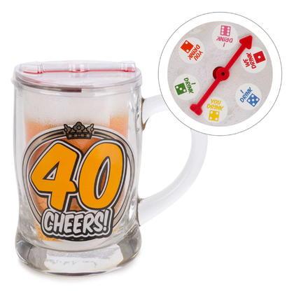 Verre à bière - 40 cheers 3X5
