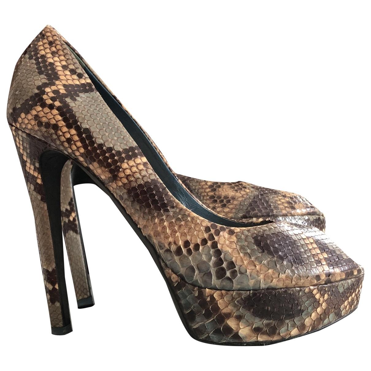 Dior \N Brown Leather Heels for Women 40 EU