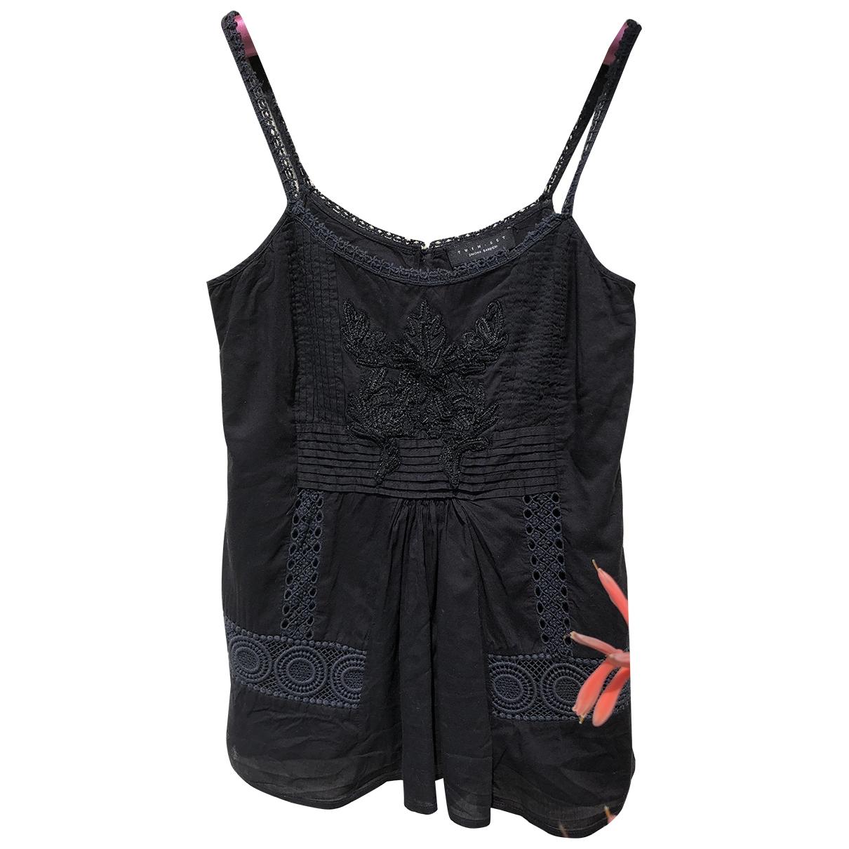 Twin Set \N Black Cotton  top for Women XS International
