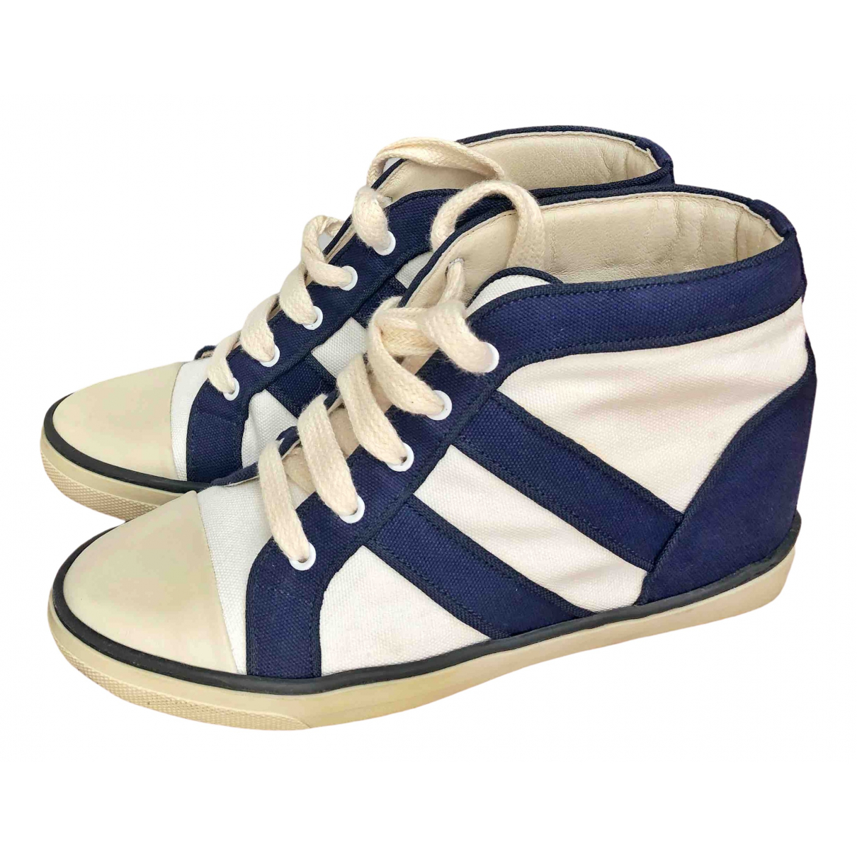 Isabel Marant \N Sneakers in  Weiss Leinen