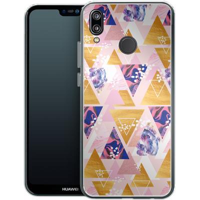 Huawei P20 Lite Silikon Handyhuelle - Blush GEO von Mukta Lata Barua