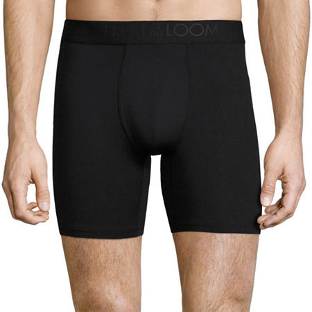 Fruit of the Loom Breathable 3 Pack Boxer Briefs, Small , Black