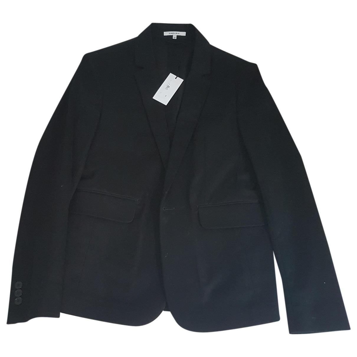 Carven - Vestes.Blousons   pour homme en coton - noir