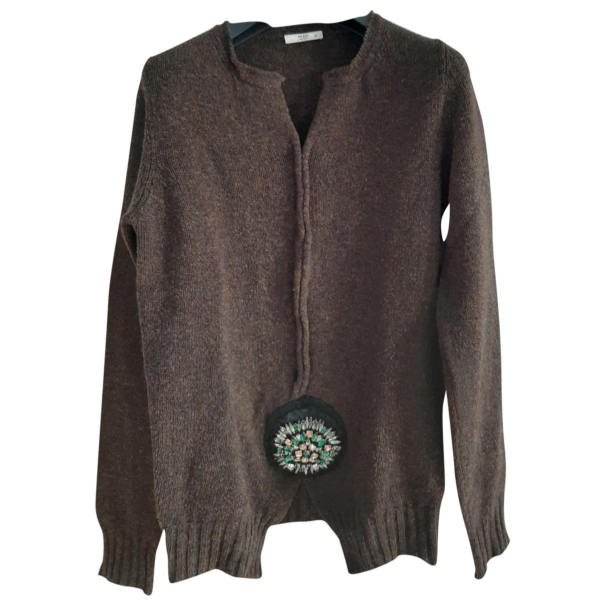 Prada \N Brown Wool Knitwear for Women 44 IT