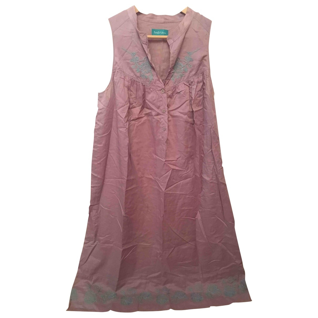 Zadig & Voltaire \N Pink Cotton dress for Women 42 FR