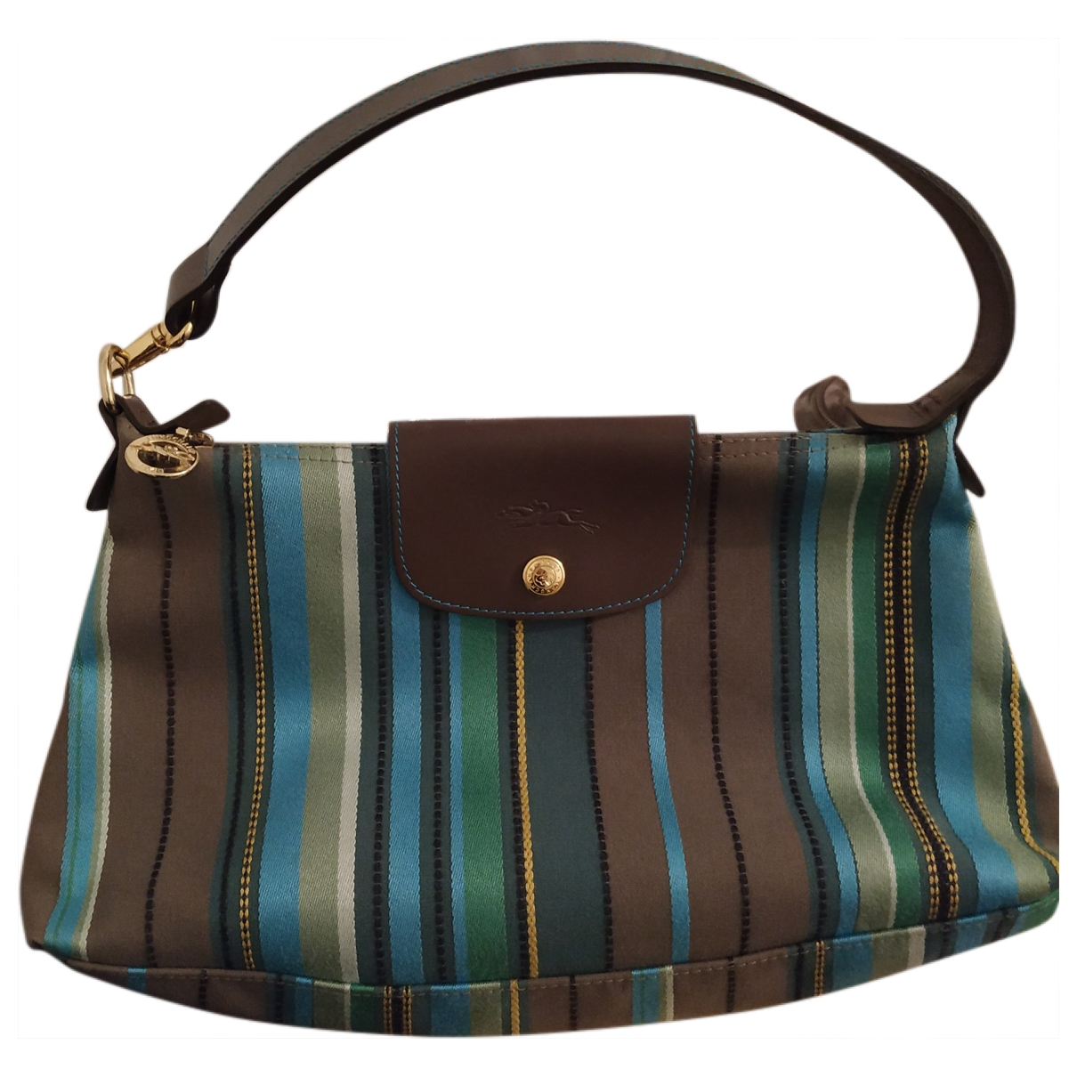 Longchamp \N Handtasche in  Khaki Leinen