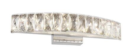 FT41W18CH LED Wall Sconce with Stainless Steel and Crystal Materials and 12 Watts in Chrome