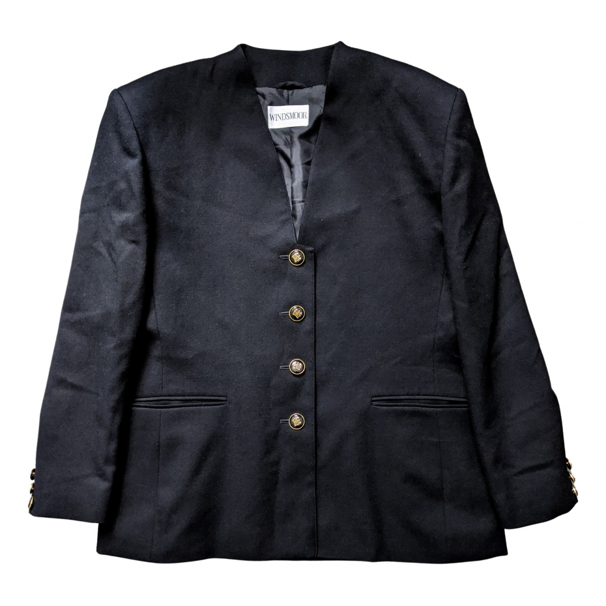 Non Signé / Unsigned \N Black Wool jacket for Women 16 UK