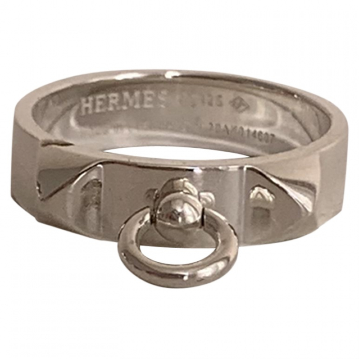 Hermès Collier de chien  Silver Silver ring for Women 56 MM