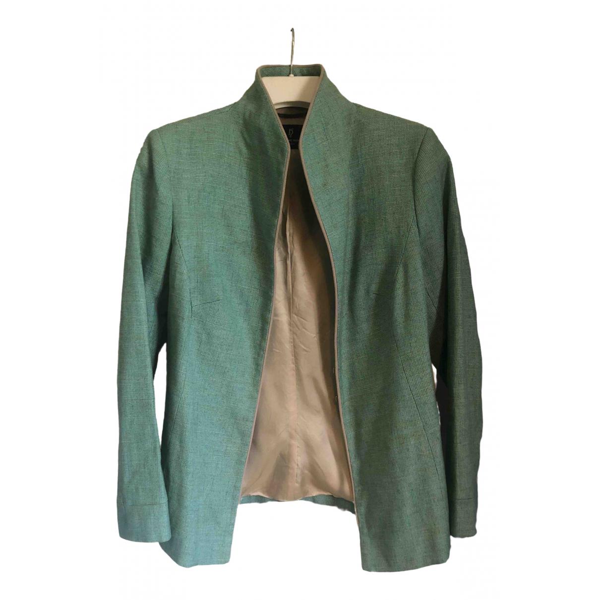 - Veste   pour femme en lin - vert