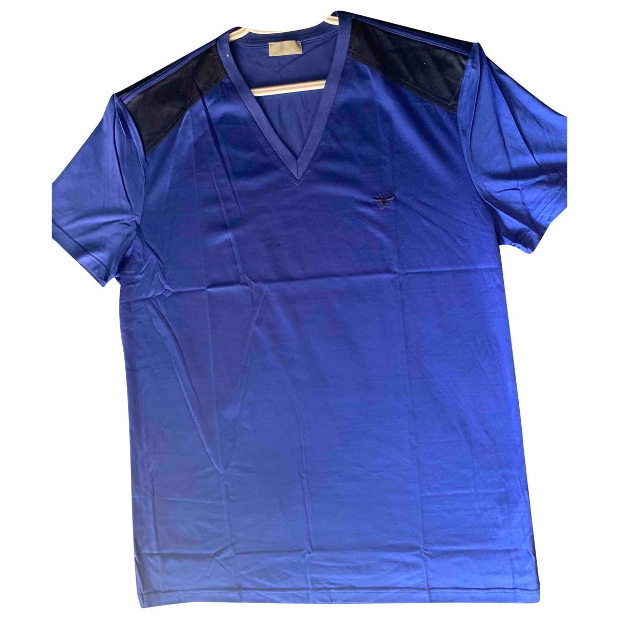 Dior Homme - Tee shirts   pour homme en coton - bleu
