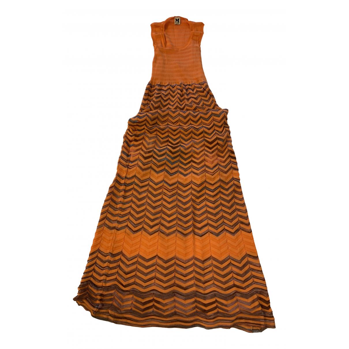 M Missoni N Orange Cotton - elasthane dress for Women 42 IT