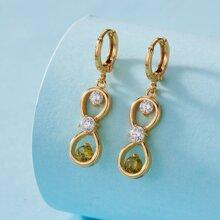 Rhinestone Detail Drop Earrings