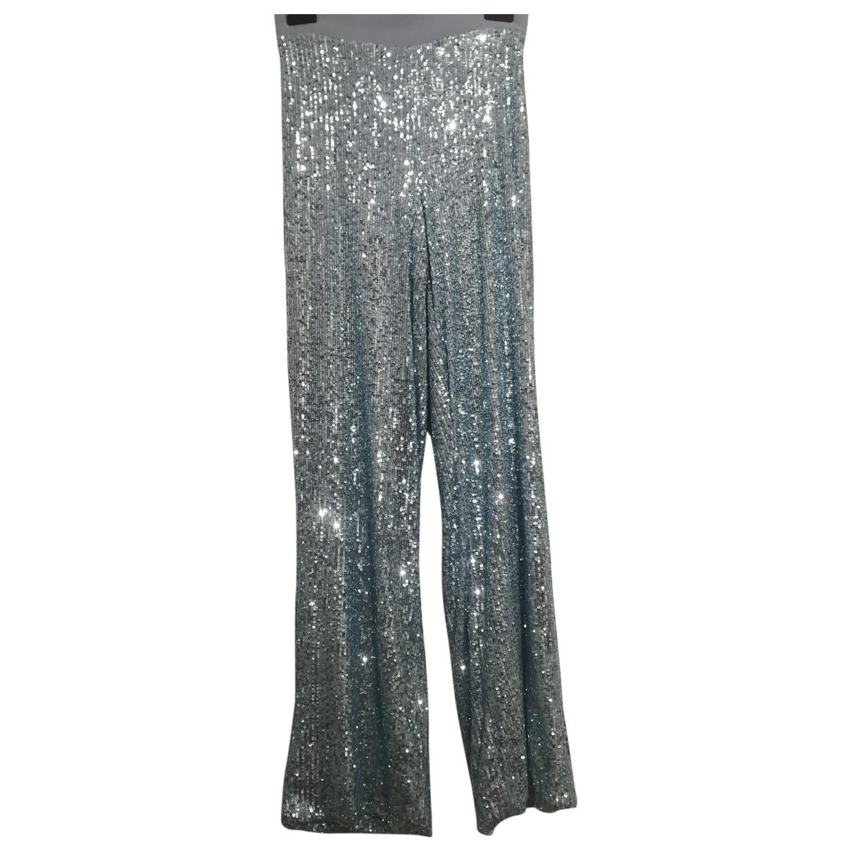 Vicolo \N Metallic Spandex Trousers for Women M International