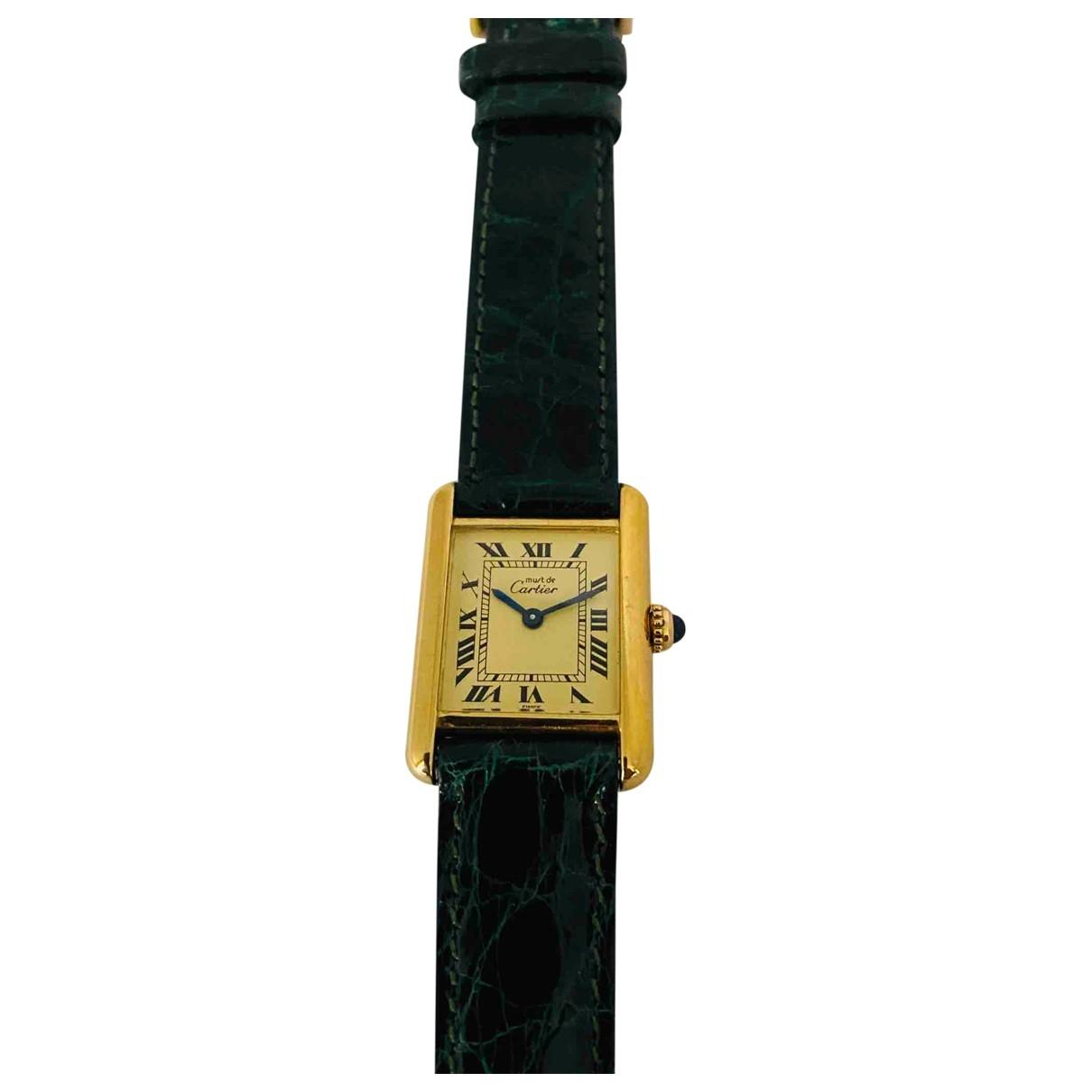 Cartier Tank Must Uhr in  Gelb Vermeil