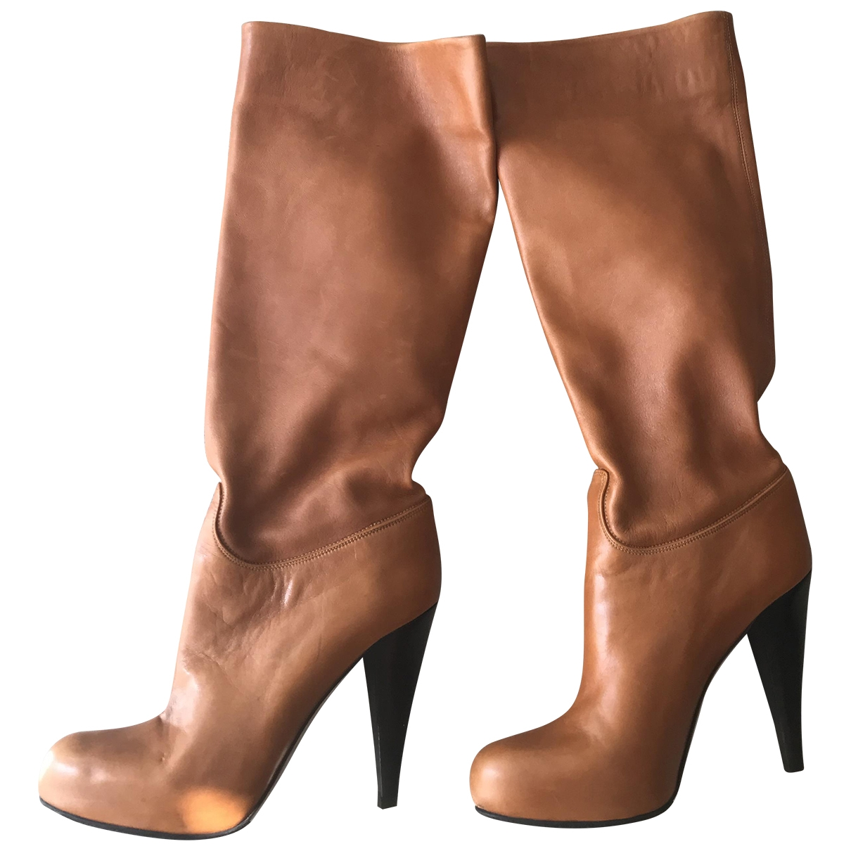 Bally - Bottes   pour femme en cuir - camel