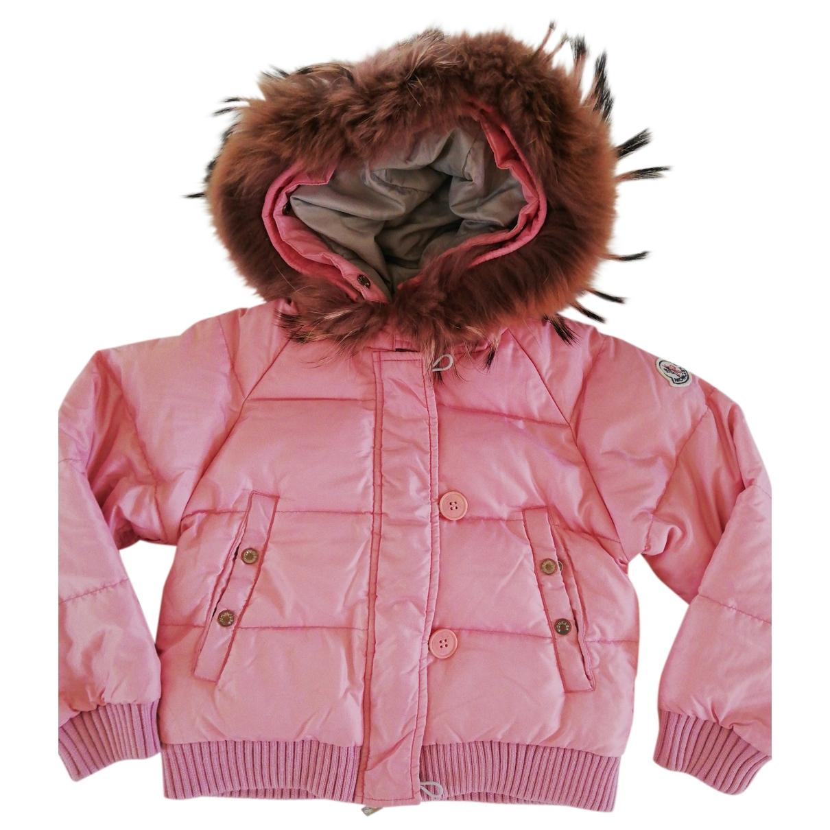 Moncler - Blousons.Manteaux Fur Hood pour enfant - rose