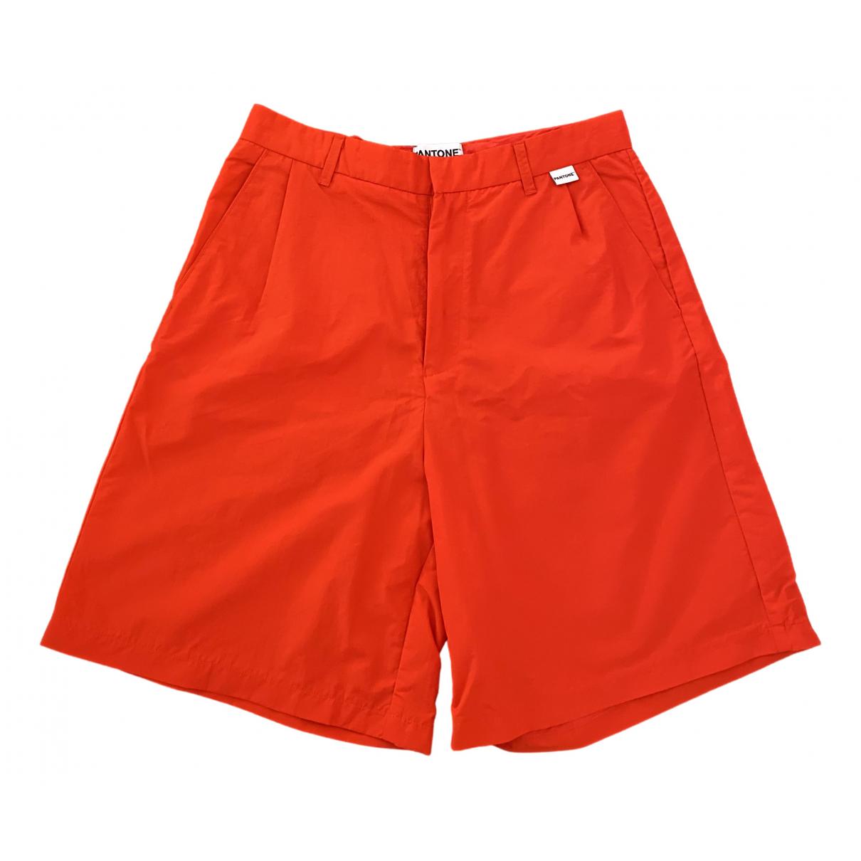 Bermudas en Poliester Naranja Pantone
