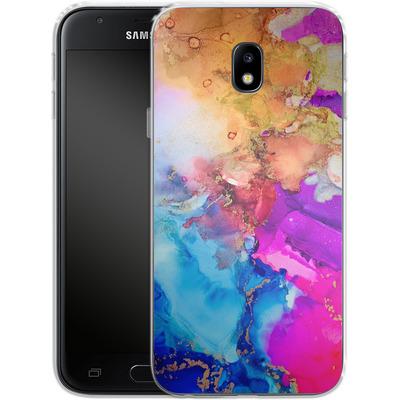 Samsung Galaxy J3 (2017) Silikon Handyhuelle - Cosmic Swirl III von Stella Lightheart