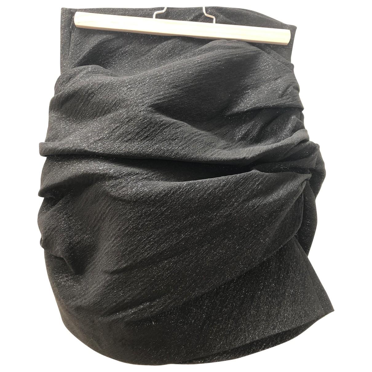 Maje - Jupe   pour femme en a paillettes - noir