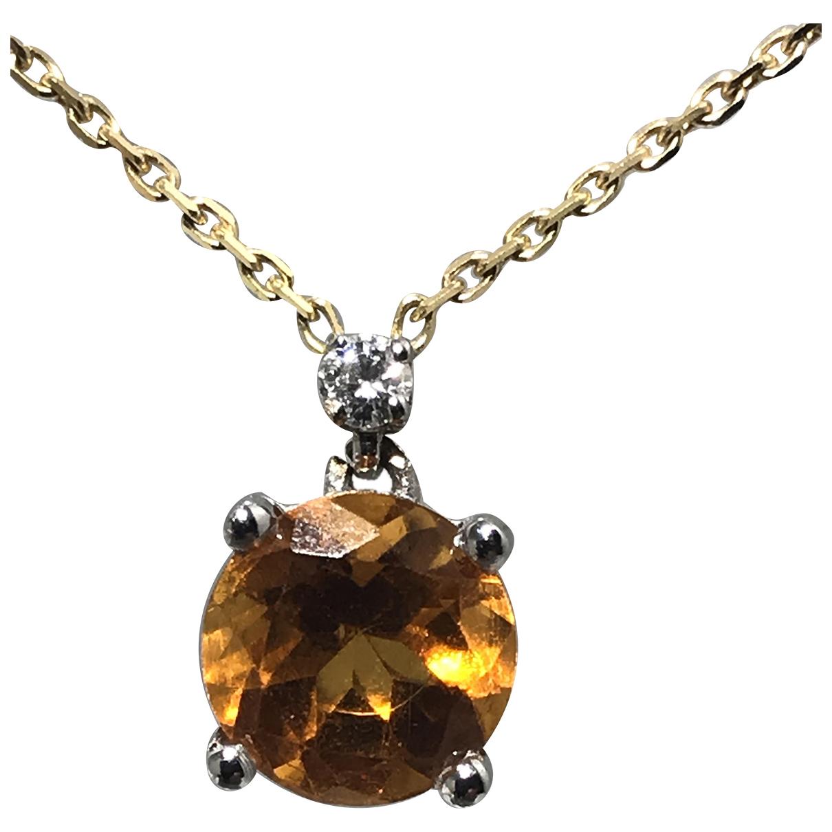 - Collier Chaines pour femme en or blanc - jaune