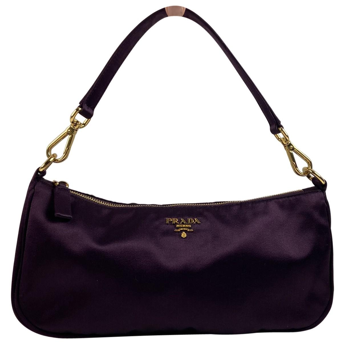Prada - Pochette Tessuto  pour femme en toile - violet