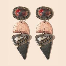Geometric Charm Drop Earrings