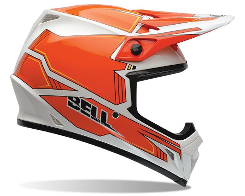 Bell Racing 7061077 MX-9 Blockade Orange Helmet 54-55 | XS