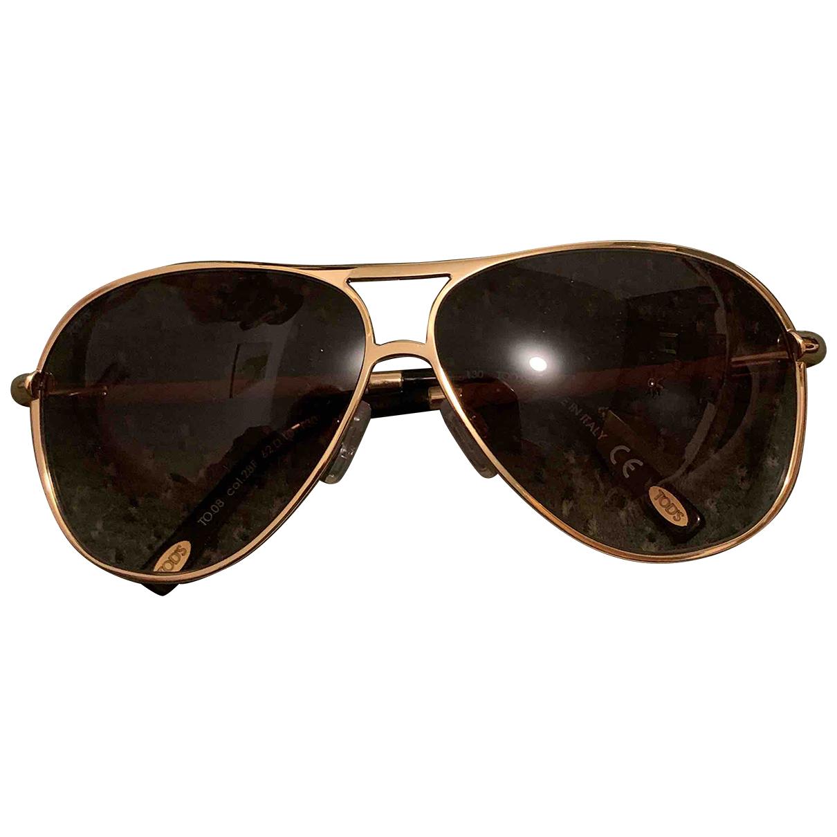 Tod's N Beige Metal Sunglasses for Women N