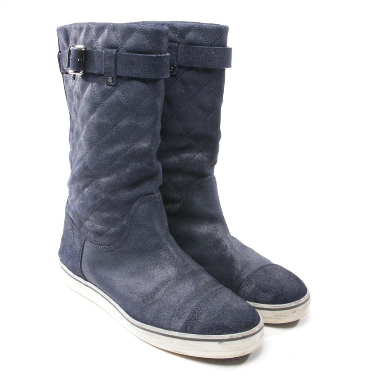 Chanel \N Blue Suede Boots for Women 41.5 EU