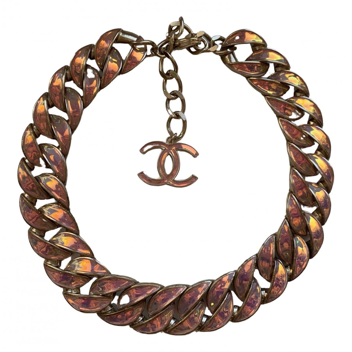 Chanel \N Kette in  Rosa Metall